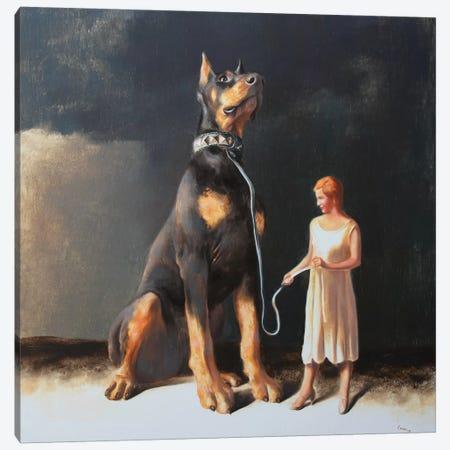 Protectress Canvas Print #RKO25} by Rudolf Kosow Canvas Artwork