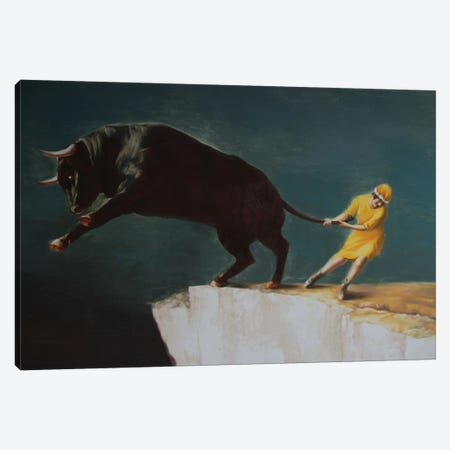 Runaway Canvas Print #RKO28} by Rudolf Kosow Art Print
