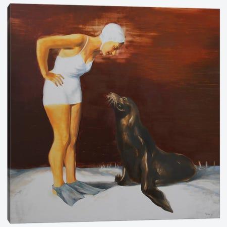 Stranger Canvas Print #RKO33} by Rudolf Kosow Canvas Artwork