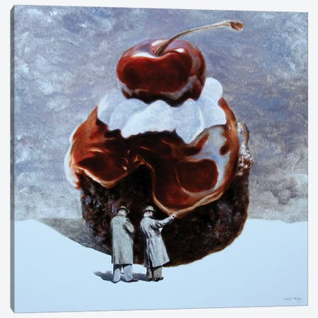 Cake Incident Canvas Print #RKO42} by Rudolf Kosow Canvas Art Print
