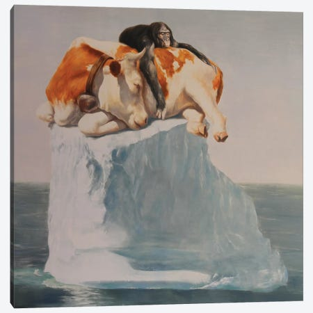 Best Friends II Canvas Print #RKO4} by Rudolf Kosow Canvas Artwork