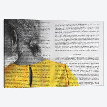 Yellow Blouse Canvas Print #RKO52} by Rudolf Kosow Canvas Artwork