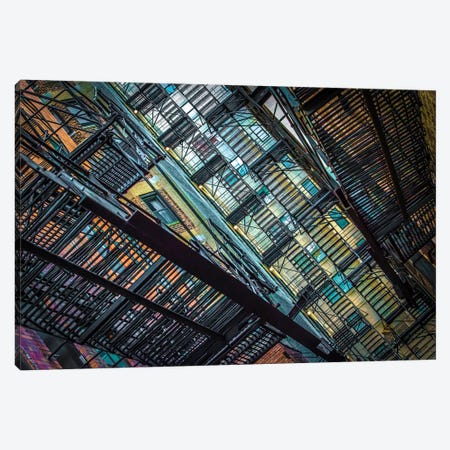 Alley Near Division And State Canvas Print #RKU10} by Raymond Kunst Canvas Art
