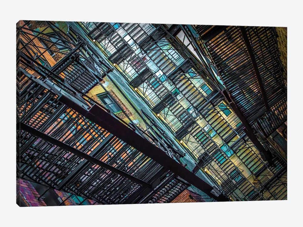 Alley Near Division And State by Raymond Kunst 1-piece Canvas Artwork