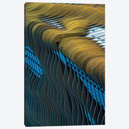 Aqua Building, Chicago Canvas Print #RKU12} by Raymond Kunst Canvas Wall Art
