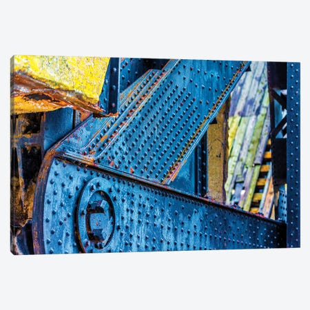 Bridge Chicago River South Branch Canvas Print #RKU16} by Raymond Kunst Art Print