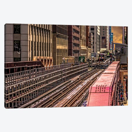 Brown Line El, Washington Canvas Print #RKU17} by Raymond Kunst Canvas Print