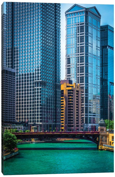 Chicago River From Michigan Ave. Canvas Art Print