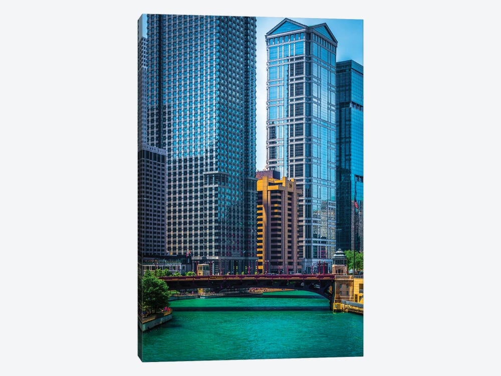 Chicago River From Michigan Ave. by Raymond Kunst 1-piece Art Print
