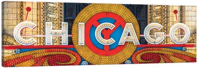 Chicago Theater Sign I Canvas Art Print