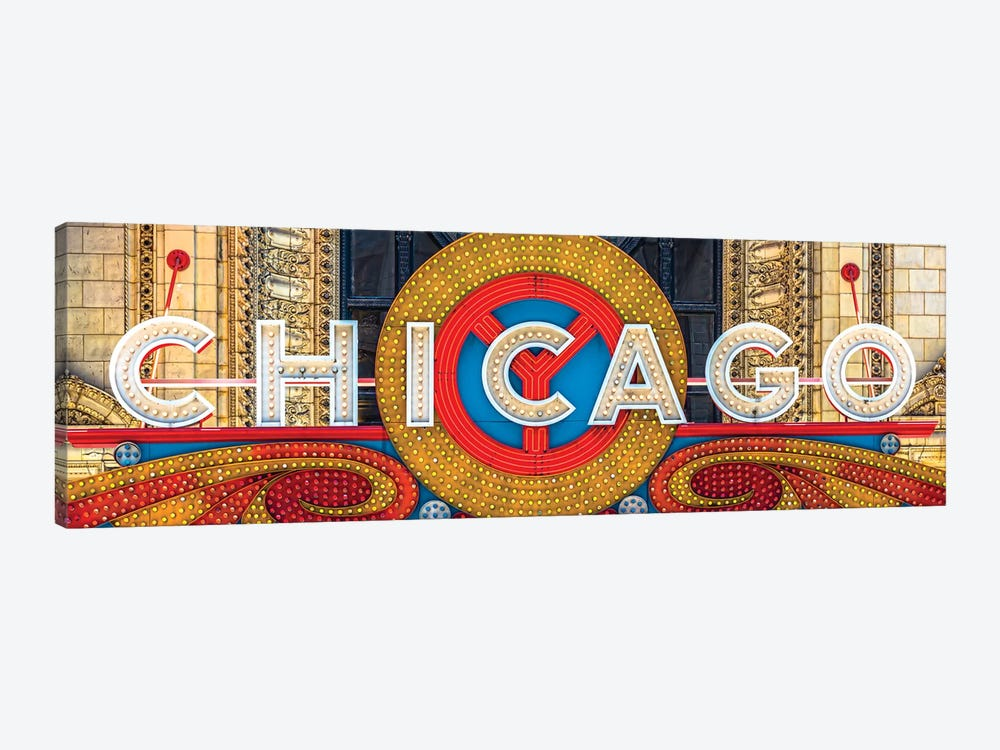 Chicago Theater Sign I by Raymond Kunst 1-piece Canvas Wall Art