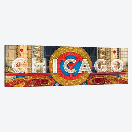Chicago Theater Sign I Canvas Print #RKU21} by Raymond Kunst Canvas Art Print