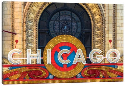 Chicago Theater Sign II Canvas Art Print