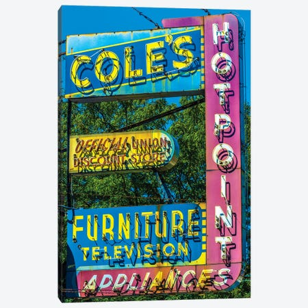Coles Furniture Co., Lincoln Ave. Canvas Print #RKU23} by Raymond Kunst Canvas Print