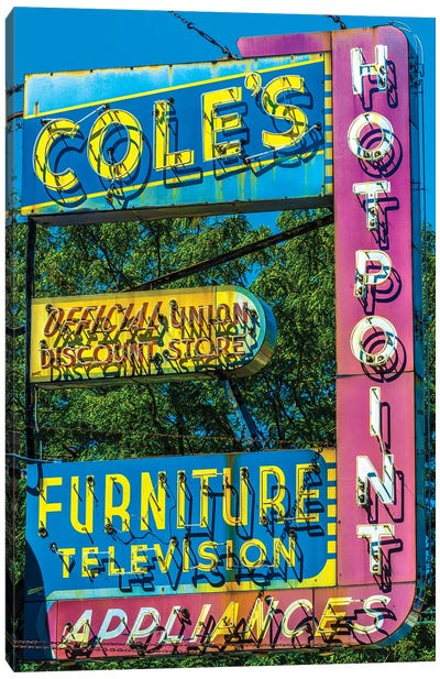 Coles Furniture Co., Lincoln Ave. Canvas Art Print