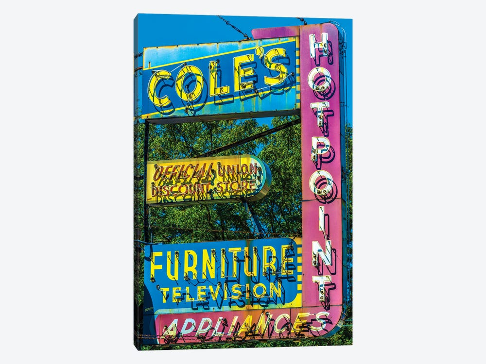 Coles Furniture Co., Lincoln Ave. by Raymond Kunst 1-piece Canvas Artwork