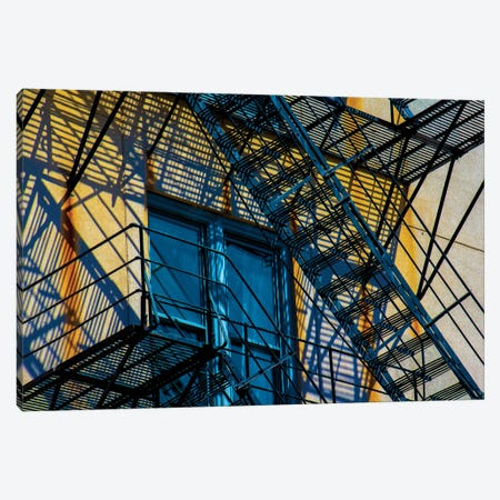 Congress Plaza Hotel Fire Escape Canvas Print #RKU24} by Raymond Kunst Canvas Artwork