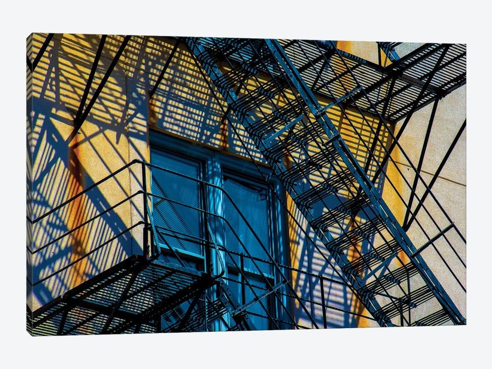 Congress Plaza Hotel Fire Escape by Raymond Kunst 1-piece Canvas Art Print