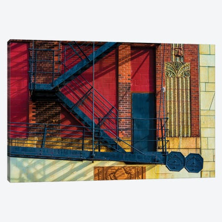 615 S. Wabash Ave. Parking Garage Canvas Print #RKU2} by Raymond Kunst Canvas Wall Art
