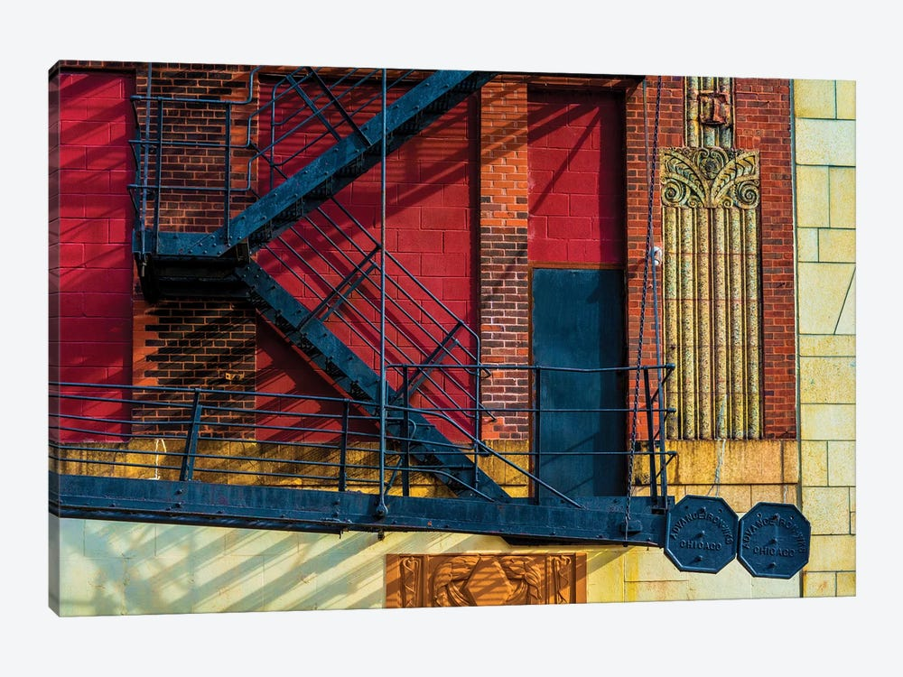 615 S. Wabash Ave. Parking Garage by Raymond Kunst 1-piece Canvas Art Print