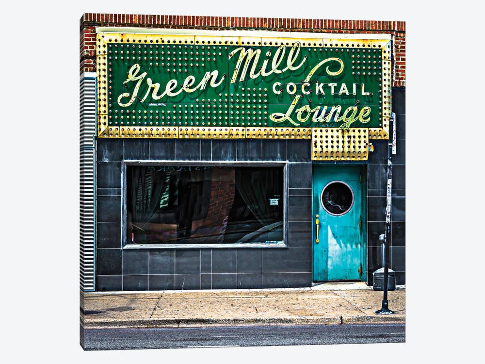 Green Mill Cocktail Lounge by Raymond Kunst 1-piece Canvas Artwork