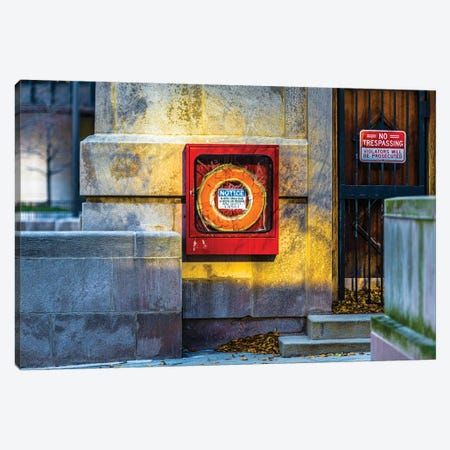 No Trespassing Wabash (Kupcinet) Canvas Print #RKU44} by Raymond Kunst Canvas Art