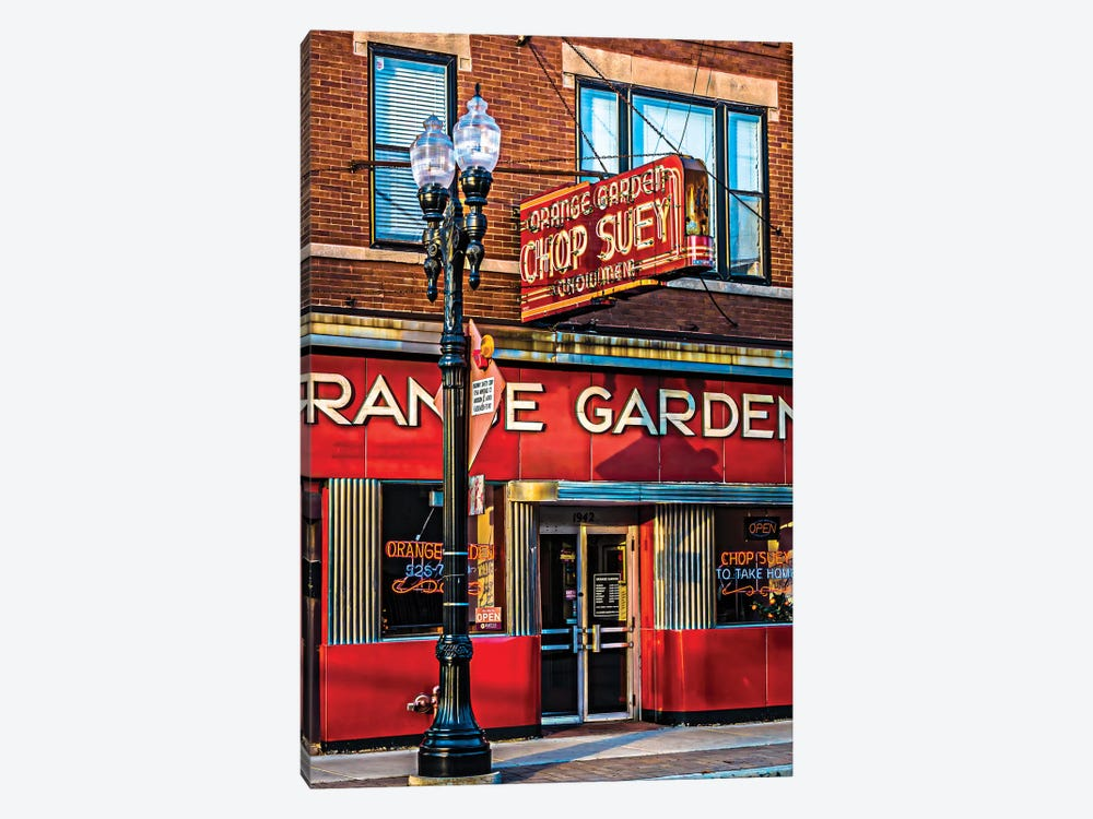 Orange Garden Chop Suey by Raymond Kunst 1-piece Canvas Print