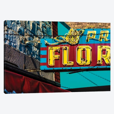 Prost Florist, Irving Park Rd. Canvas Print #RKU50} by Raymond Kunst Canvas Wall Art