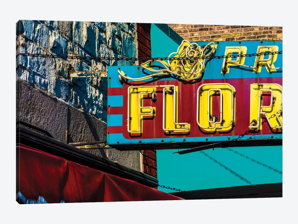 Prost Florist, Irving Park Rd. by Raymond Kunst 1-piece Canvas Wall Art