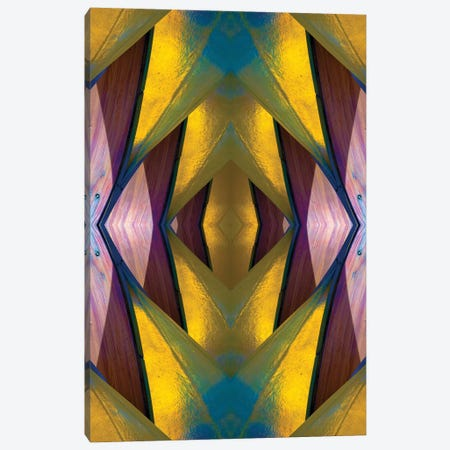 Pure Gold Lincoln Park Wood Pavilion II Canvas Print #RKU52} by Raymond Kunst Canvas Artwork