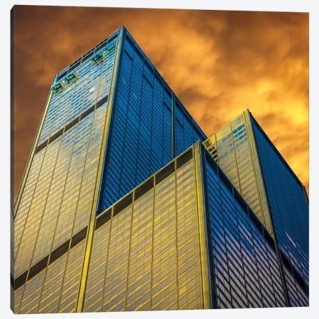 Sears Tower Canvas Print #RKU55} by Raymond Kunst Art Print