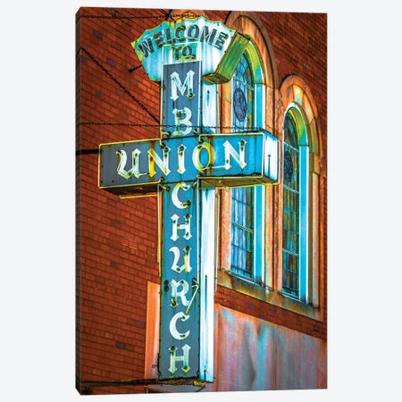 St. Luke Church Of God In Christ Canvas Print #RKU59} by Raymond Kunst Canvas Artwork