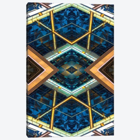 Steel & Glass Canvas Print #RKU63} by Raymond Kunst Art Print