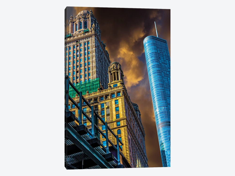 Trump Tower & Jewelers' Building by Raymond Kunst 1-piece Canvas Print