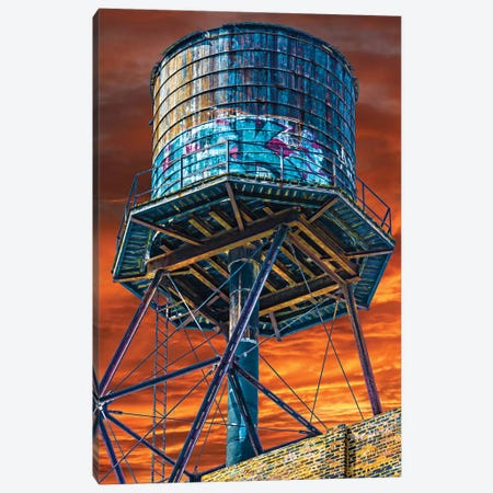 Water Tower Canvas Print #RKU78} by Raymond Kunst Canvas Wall Art