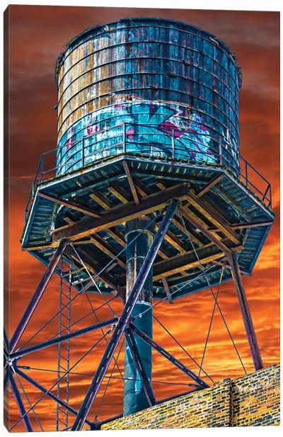 Water Tower Canvas Art Print