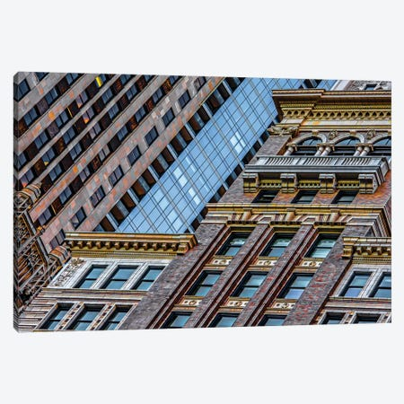 Willoughby And Montgomery Ward Towers Canvas Print #RKU79} by Raymond Kunst Canvas Wall Art