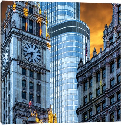 Wrigley Building & Trump Tower Canvas Art Print