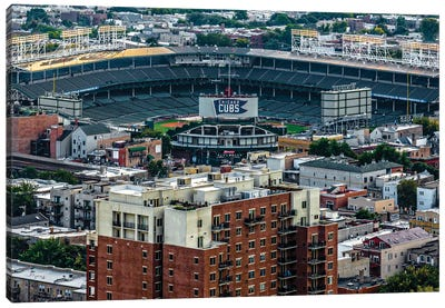 Wrigley Field, Park Place Towers, Daytime Canvas Art Print