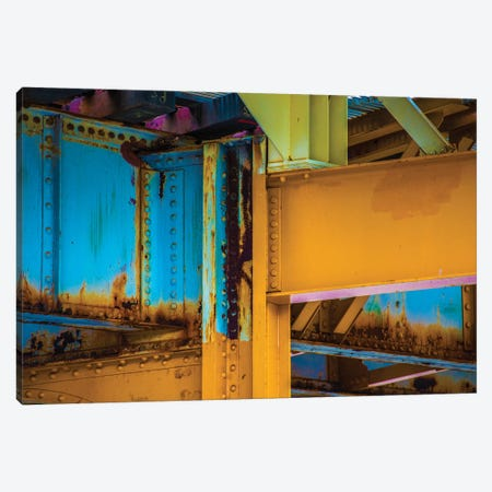 Yellow Beams 3-Piece Canvas #RKU83} by Raymond Kunst Canvas Print