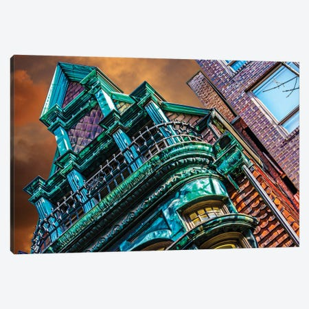 Victorian On Dearborn And Goethe Chicago Canvas Print #RKU87} by Raymond Kunst Canvas Artwork