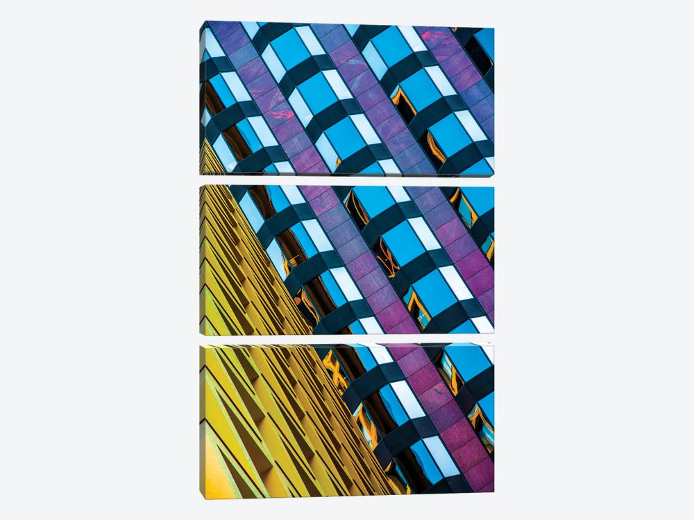 All Lined Up by Raymond Kunst 3-piece Canvas Print