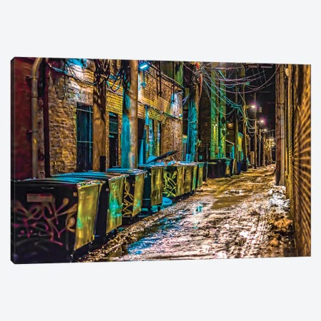 Alley In Uptown Canvas Print #RKU9} by Raymond Kunst Canvas Art