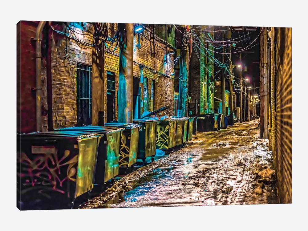 Alley In Uptown by Raymond Kunst 1-piece Canvas Artwork