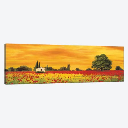 Field of Poppies Canvas Print #RLB7} by Richard Leblanc Canvas Artwork