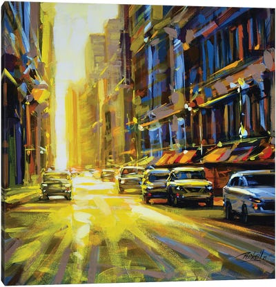 City XLVI Canvas Art Print