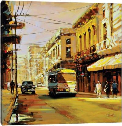 City L Canvas Art Print
