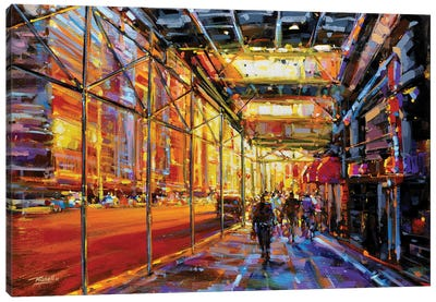 City LV Canvas Art Print