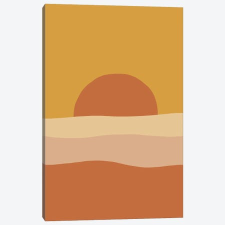 Scenic Sunset Abstract Art Canvas Print #RLE103} by Merle Callesen Art Print