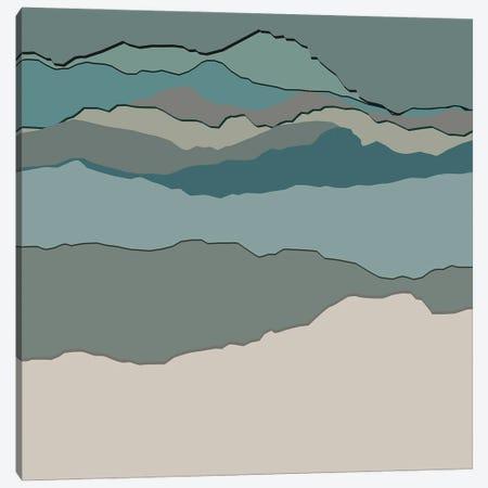 Silhouette Abstract Art Canvas Print #RLE109} by Merle Callesen Canvas Art Print